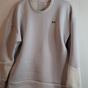 Nwt Women's Under Armour MOVE Mesh Inset Crew Lg